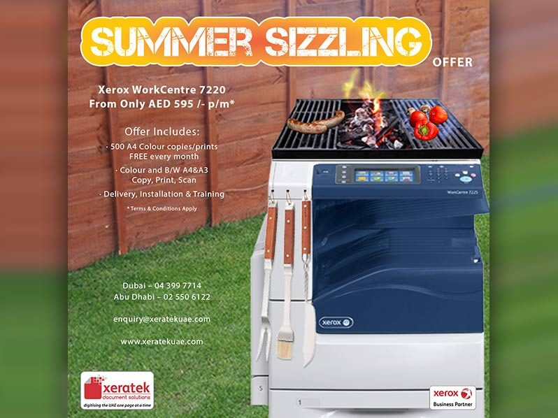 SIZZLING OFFERS FROM XERATEK THIS SUMMER